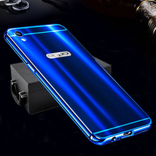 Fundas For OPPO R9 Case Luxury Cute Colorful Plating Metal Aluminum Frame+Acrylic Hard Phone Cases For OPPO R9S Plus Case Cover