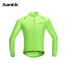 Santic Cycling Jersey Rain Coat Waterproof Cycling Raincoat Long Sleeve Bike Rain Jacket Bicycle Skinsuit MTB Jersey Sportswear