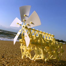 Wind Powered Strandbeest Puzzle Assembly DIY Model Building Kits Walking Walker Environmental Educational Toys Gift for Children(China)