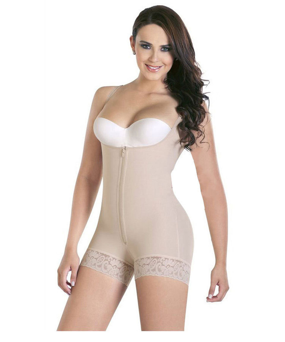 Women's Body Shaping Underwear Siamese Underwear Zipper Lace Body Sculpting Large Size Slim Body Lingerie For Sexy Ladies S-6XL