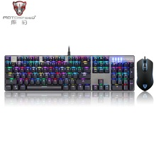 Motospeed CK888 Mechanical Keyboard USB Wired Gaming Keyboard with RGB Backlight Keyboard Mouse Combo For Computer Laptop Games