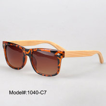 1040  summer choice plastic sunglasses with bamboo temple spring hinge  sunshade UVB  UVA