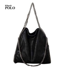 Women Crossbody Bags Falabellas leather Shoulder Bag stella 3 silver chains Bolso Socialite Tote Fashion Sac A Main Lady Torba(China)