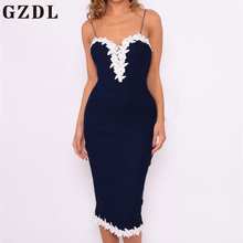 GZDL Hollow Out Sleeveless Backless Bodycon Women Dress Sexy Summer Mini Dresses Spaghetti Strap Crochet Pencil Dresses CL3868