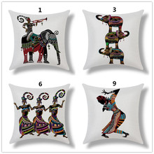 Buy Maiyubo Africa People Elephant Cushion Cover Vintage Decorative Throw Pillow Case African Tribal Women Waist Pillow Cover PC505 for $3.78 in AliExpress store