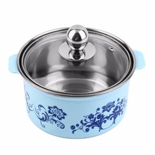 Household Stainless Steel Small Single Use Hot Pot With Lid for Electromagnetic Oven Convenient And Practical Easy to Clean(China)