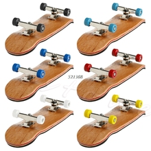 Professional Type Bearing Wheels Skid Pad Maple Wood Finger Skateboard Alloy Stent Bearing Wheel Fingerboard Novelty Toy
