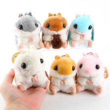 Amuse Hamster 6pcs Japanese Anime Toys Key Chain Bag Backpack Plush Doll Animal Stuffed Soft Toy For Girls Kids Lover Gift