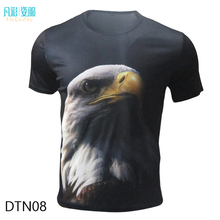 t shirt men 3d animal eagle mens t shirts fashion 2016 brand clothing polyester print short sleeve knitted regular
