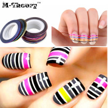 M-theory DIY Nails Art Rolls Striping Decals Foil Tips Tape Line Designs 3D Nails Art Stickers Nails Salon Tools Decorations