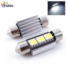 Super Bright 31mm 36mm 39mm 41mm Canbus Error Free 5050SMD 3Led 12V C5W Car Interior Festoon Dome Light Lamp Bulbs