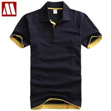 British Style Fashion Polo Shirts Men Pure Cotton Short Sleeve Solid Polo Shirt Men's Casual Dress Brand Size 3XL Free Shipping