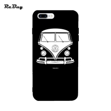 Funda Volkswagen For Iphone 6 7 6s Case Soft TPU Covers For Iphone 7plus 6plus VW BUS 1950-2013 For Iphone Case 6s Plus(China)