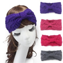 1pc  Autumn Headwear Hair accessories BOHO style Women Winter Caps Buttons with Wool hairband  Kntted Wool Headband For girls