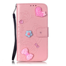 Rhinestone Diamond Wallet Stand Cover for Huawei Honor 4C Case Hand Strap Flip PU Leather Phone Cases(China)