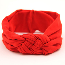 1PC Soft Girl Kids Hairband Turban Knitted BowKnot Cross Headband Headwear Hair Band Accessories(China)