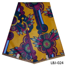 London wax print fabric hitarget real ankara fabric 6 yard for women garment LBJ-022(China)