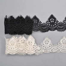 Simple Design 1 Yard Fabric Embroidered Lace Bilateral Applique Trim Ribbon Sewing Craft