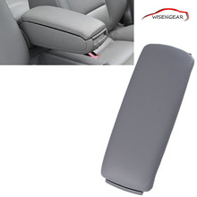 Car Styling Grey Leather Arm Rest Console Box Armrest Lid Cover For Audi A4 C5 A6 S4 2001 - 2006 with Safety Package C/5(China)