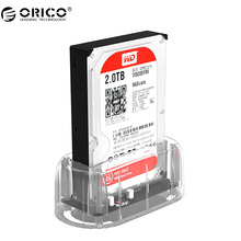 "ORICO 2.5''/ 3.5"" HDD Transparent Docking Station Support 8TB Storage UASP Protocol USB 3.0 to SATA 3.0 Hard Drive Enclosure(China)"