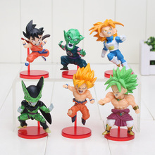 6pcs/set 8-10cm Anime Dragon Ball Z Goku Trunks Cell Piccolo PVC Action Figure Collection Model Toy Gift(China)