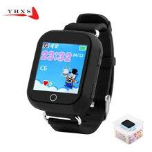 1.54 Сенсорный Экран Smart GPS WIFI Расположение Finder Трекер SOS Телефон часы для Ребенка Дети Анти-Потерянный Монитор Q750 PK T58 Q50 Q90