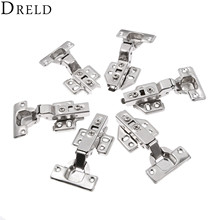 DRELD 1Pc Stainless Steel Door Hydraulic Hinges Damper Buffer Soft Close Hinges For Kitchen Cabinet Cupboard Furniture Hardware(China)