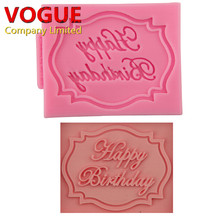 Happy Birthday shaped silicone mold chocolate fondant cake decoration Tools N3075