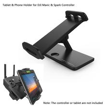 Foldable Extender 4-12 Inches Tablet Stander Mobile Phone Stand Holder Snap On/Off Bracket for DJI Spark and Mavic controller(China)