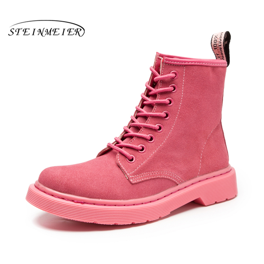 Winter boots snow factory-shoe pink red winter boots for women with fur Waterproof boots big shoes woman size 11<br>