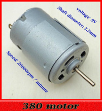 380 Motor Micro DC Motor High Speed High Torque Model Aircraft Motor for Fan Spare Part Accessory
