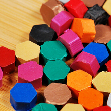 Creative Color Paint Wax Vintage Stamp Sealing Wax Special Sealing Wax Filling Supplies 6 bottles/lot SH691