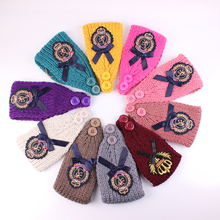 Women Crochet Headband Knit Hairband Flower Winter Ear Warmer Headwrap Wide Crochet Headband Knit Flower Hairband 10pcs/lot