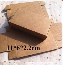 Qin.01.17/11*6*2cm Blank Brown Carton Kraft Box, Gift Packing Boxes, Soap Packaging, Storage Item Aircraft box