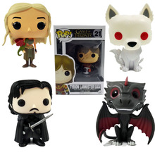Funko pop vinyl game of thrones daenerys Jon Snow Drogon Tyrion Action Figure Model PVC 10cm Ghost Doll Game Collectible toys