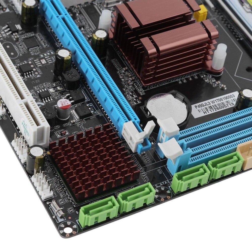 Интернет магазин товары для всей семьи HTB128U0hpOWBuNjy0Fiq6xFxVXaN P45 материнская плата компьютера Fast Ethernet плата 771/775 двойной борт DDR3 8 GB Поддержка L5420 высокое Совместимость Прямая доставка