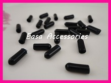 200PCS 15mm*5mm Medium Size Black rubber tips for the end of 4mm and 5mm Metal headbands to protect from hurt,Bargain for Bulk(China)