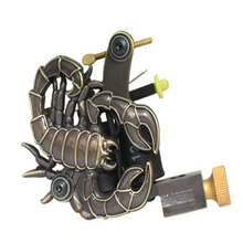 Professional tattoo machine 10 wrap Handmade Tattoo  Gun Tattoo Machine Coils Cast Black For Beginner Shader Liner Free Shipping