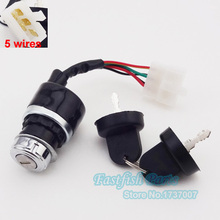 5 Wires On Off Start Starter Key Switch For Chinese Dune Buggy Moped Scooter Go Kart UTV Motorcycle Crass Parts