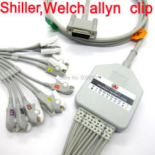 Shiller Welch allyn EKG cable 10 lead ecg cable Clip on terminal
