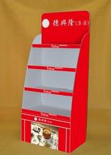 easy to mounted fashion exhibition paper display stand for bread or cake eco-friendly carton display(China)