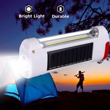 Newest Mini Solar Power LED Flashlight USB Rechargeable Light Lamp for Outdoor Lighting Hiking Camping(China)