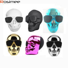 Sunglass NFC Speaker Skull Head Portable Wireless Bluetooth Speaker for Desktop PC/Laptop Notebook/Mobile Phone/MP3/MP4 Player