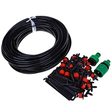 DIY 25M Micro Drip Irrigation System Plant Automatic Rubber Self Watering Controller Garden Hose with 30x Adjustable Dripper Kit(China)