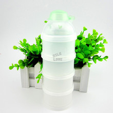 Solid abs latex free nitrosamine free new sale baby powder milk box storage 4 Layers newborn food container products