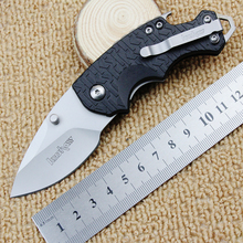 Convenient mini folding knife high hardness blade + fiber handle outdoor camping tactical knife rescue equipment tool