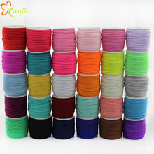 DHL shipping 30rolls 30colors 1/8 Skinny Elastic 3mm Width 50yards/roll DIY Kids Headbands Hair Accessories YOU PICK COLORS
