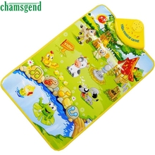 CHAMSGEND Best-seller Kids Baby Farm Animal Musical Music Click Play Singing Gym Carpet Mat Toy  S7