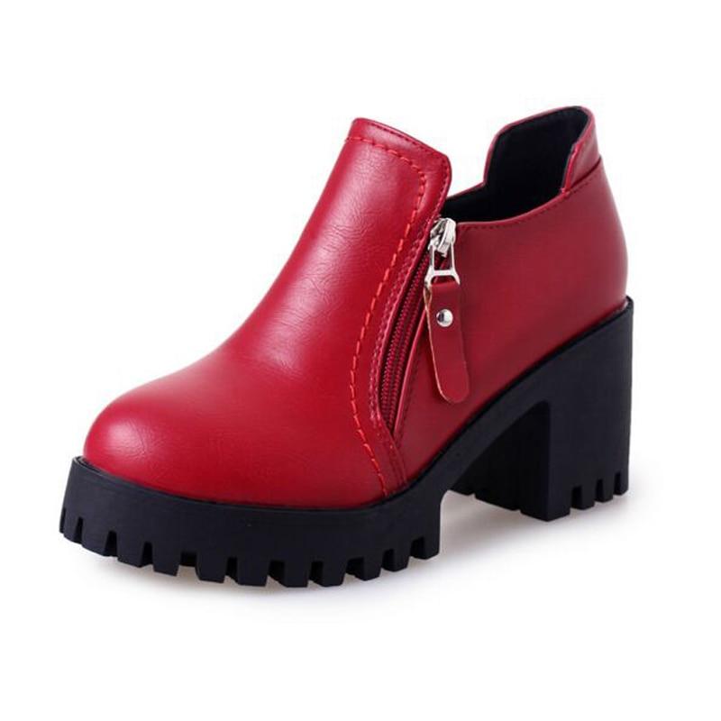 Europe Style 2017 nNew Shoes Waterproof Deep High-Heeled Women Shoe Low Shoes Zipper Spring Womens Shoes<br><br>Aliexpress