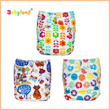 Newest Color Babyland Diaper 50PCS+10PCS Wet Bag For Free Cloth Diaper Babies(China)